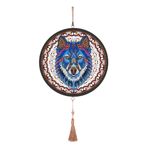 Wolf Diamond Painting Coffee Tassel Special Shape Partial Drills Home Decor