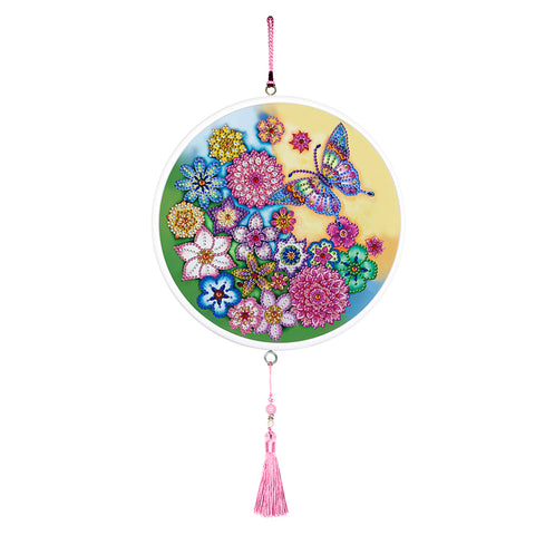 Butterfly Diamond Painting Tassel Partial Drill Special Shape Home Pendants