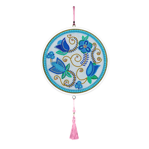 Flower Diamond Painting Pink Tassels Special Shape Full Drill Home Pendants