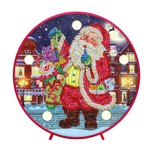 DIY Diamond Painting LED Lamp Crystal Rhinestone Christmas Santa Claus Room Decor