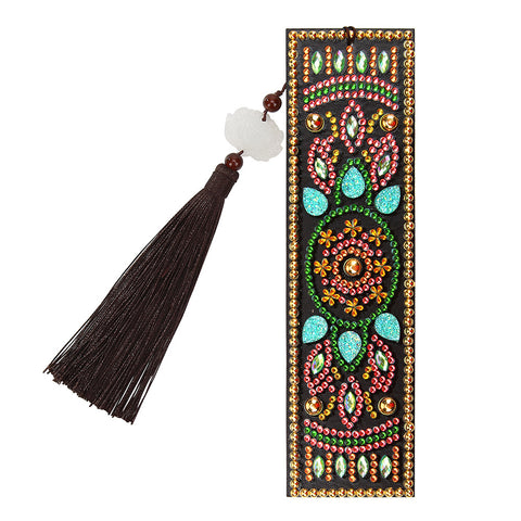 DIY Special Shaped Diamond Painting Leather Tassel Bookmark Creative Crafts