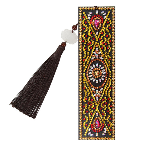 DIY Special Shaped Diamond Painting Creative Leather Tassel Bookmark