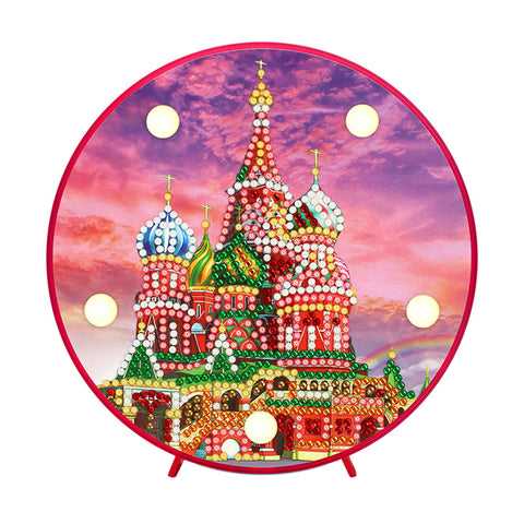 DIY Diamond Painting LED Lamp Crystal Rhinestone Castle Room Decor