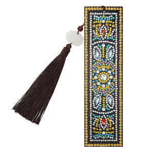 DIY Special Shaped Diamond Painting Leather Tassel Bookmark Crafts Gift