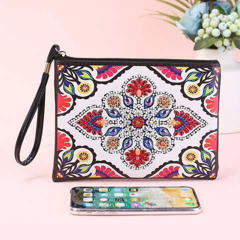 DIY Mandala Special Shaped Diamond Painting Zipper Wallet Wristlet Clutch