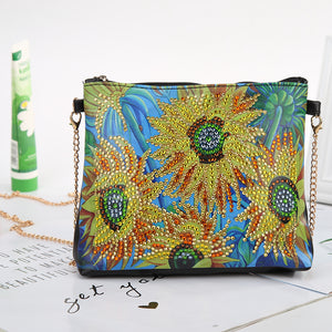 DIY Special Shaped Diamond Painting Leather Crossbody Bags Chain Clutch