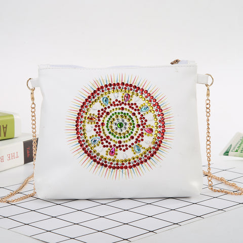 DIY Special Shaped Diamond Painting Girl Wallet Cross Stitch Coin Purse