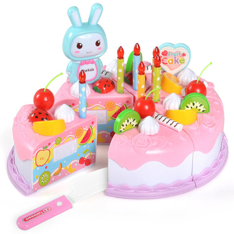 DIY Cake Toy Kitchen Food Pretend Play Cutting Fruit Toys