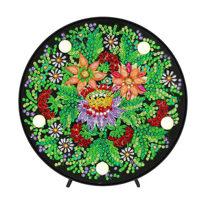 DIY Diamond Painting LED Lamp Crystal Rhinestone Flower Room Decor