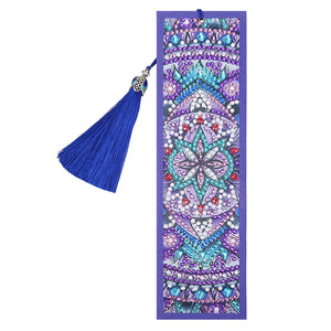 DIY Special Shaped Diamond Painting Creative Leather Tassel Bookmark Gift