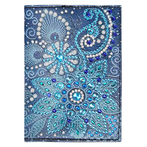 DIY Special Shaped Diamond Painting Leather Passport Protective Cover Gift