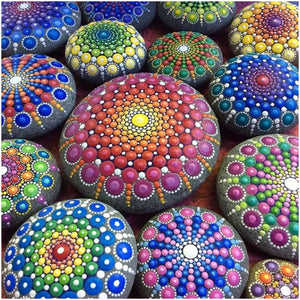 Diamond Painting-5D Full Round Drill Colorful Stones(40*40CM)