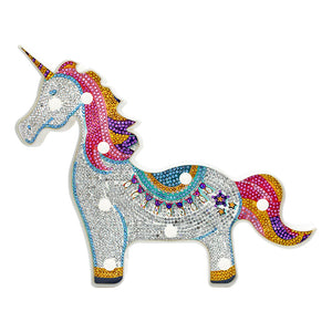 DIY Diamond Painting LED Lamp Crystal Rhinestone Horse Room Decor