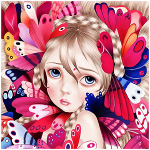 Diamond Painting-5D Full Round Drill Cute Girl