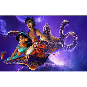 Diamond Painting-5D Full Round Drill Aladdin and the Magic Lamp