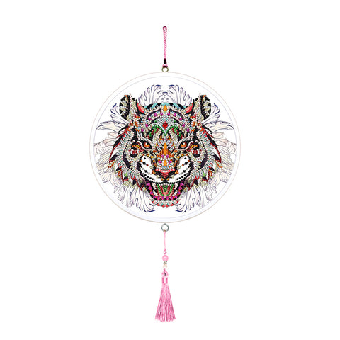 Tiger Mural Tassels DIY Diamond Painting Special Shape Drills Home Pendants