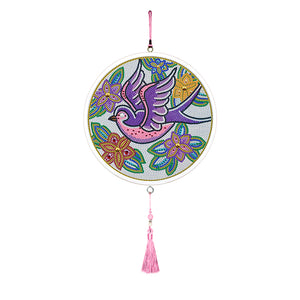 Bird Mural Tassels DIY Diamond Painting Special Shape Full Drill Home Decor