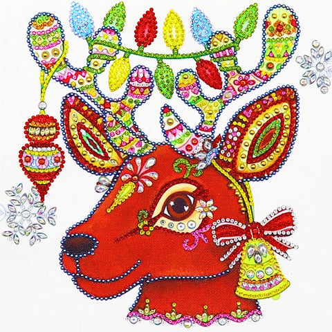 Diamond Painting-DIY Crystal Rhinestone Christmas Deer