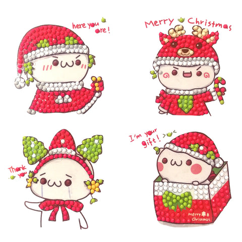 Cute Child Special Shape DIY Diamond Painting Embroidery Cup Book Sticker