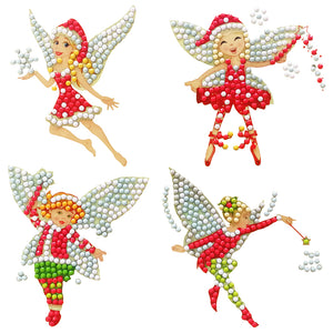 Children DIY Diamond Painting Special Shape Drill Fairy Stickers Xmas Decor