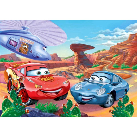 Diamond Painting-5D Full Round Drill Cartoon Cars