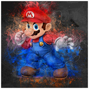 Diamond Painting-5D Full Round Drill Mario