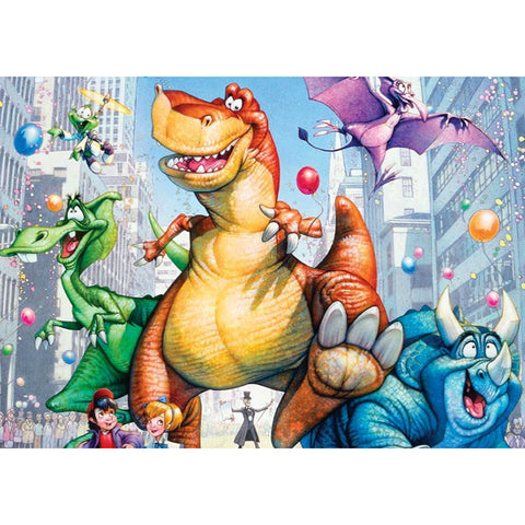 Diamond Painting-5D Full Round Drill Cartoon Dinosaur