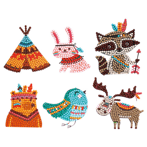 Elk Owl Animal Sticker DIY Diamond Painting Round Drill Children Xmas Gift