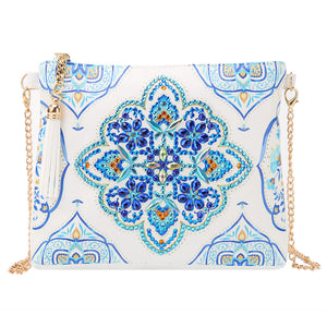 DIY Special Shaped Diamond Painting Leather Crossbody Bag Chain Makeup Bags