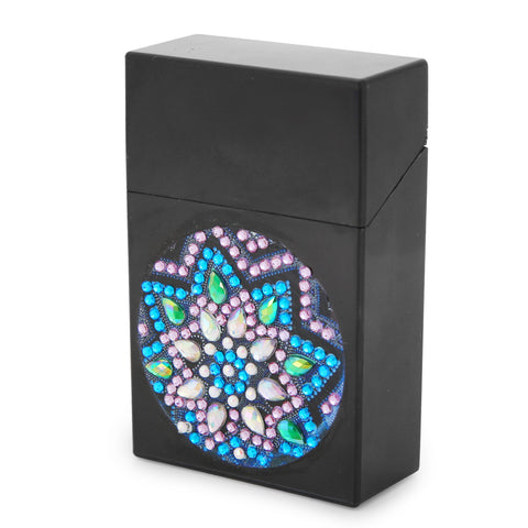 DIY Diamond Business Card Storage Box Creative ID Card Bus Card Holder