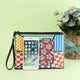 DIY Heart Special Shaped Diamond Painting Wristlet Clutch Zipper Wallet