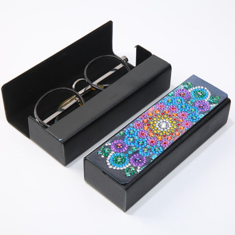 DIY Diamond Painting Leather Eye Glasses Box Travel Sunglasses Storage Case