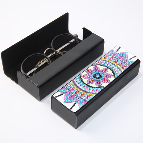 DIY Diamond Painting Leather Eyeglasses Storage Box Case Sunglasses Holder