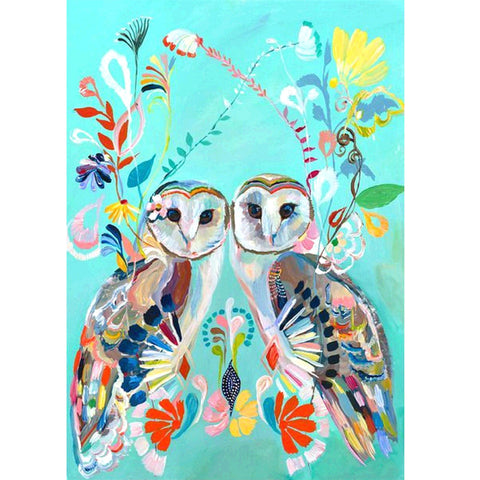 Diamond Painting-5D Full Square Drill Owl