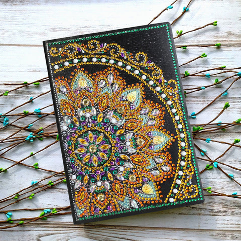 DIY Crystal Rhinestones Diamond Painting Mandala Notebook
