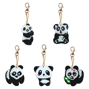 DIY Diamond Painting Keychain-5pcs/Set Panda Bag Keychain Jewelry Gift