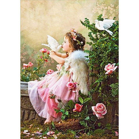 Diamond Painting-5D Full Round Drill Beautiful Angel