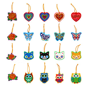 20pcs Mini Greeting Card Pendant Diamond Painting Single Side Special Shape