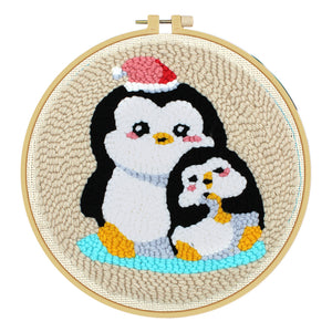 Penguin Embroidery Kit Cross Stitch Needlework Sewing Tool for Beginner
