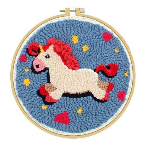 Horse Pattern Embroidery Sewing Tool Cross Stitch Needlework for Beginner
