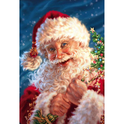 Diamond Painting-5D Full Round Drill Santa Claus(30*40cm)