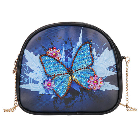 DIY Butterfly Special Shaped Diamond Painting Leather Chain Messenger Bags