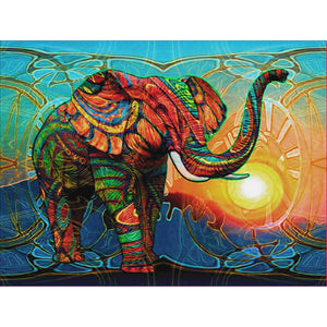 Diamond Painting-5D Full Round Drill Elephant