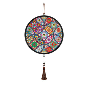 Mandala Pendant Coffee Tassel DIY Diamond Painting Special Shape Home Mural