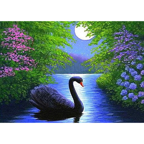 Diamond Painting-5D Full Round Drill Swan