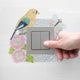 DIY Bird Diamond Painting Luminous Switch Stickers Bedroom Home Wall Decals