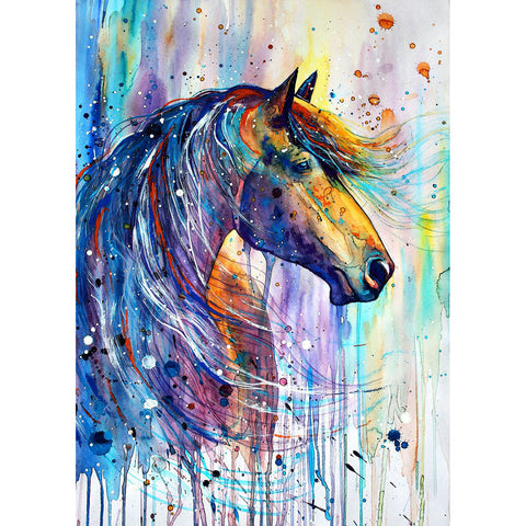 Diamond Painting-5D Full Round Drill Horse
