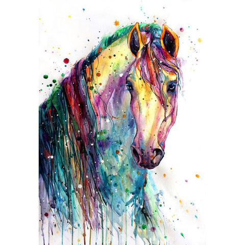 Diamond Painting-DIY Full Round Drill Horse