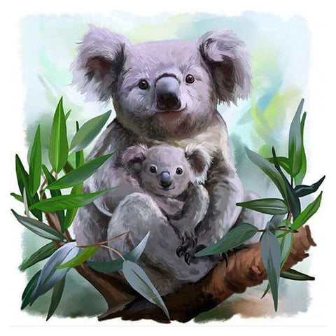 Diamond Painting-5D Full Round Drill Cute Koala