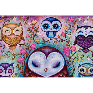 Diamond Painting-5D Full Round Drill Owl
